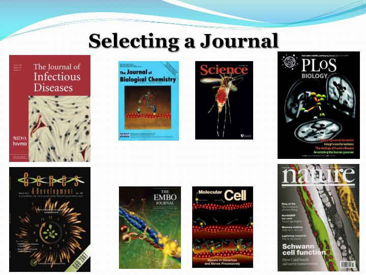 selecting a journal n.
