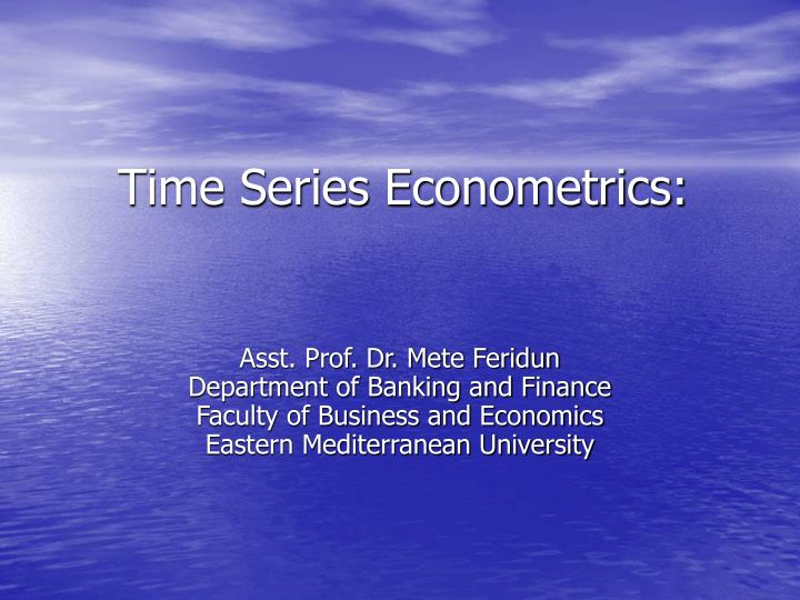 time series econometrics n.