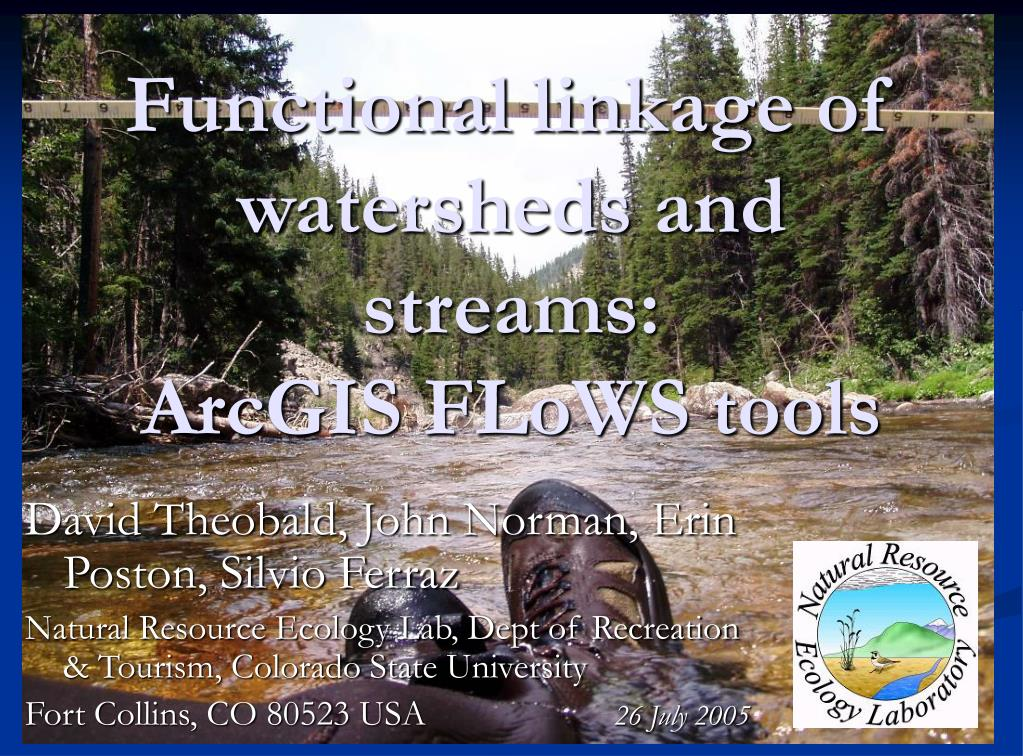 functional linkage of watersheds and streams arcgis flows tools l.