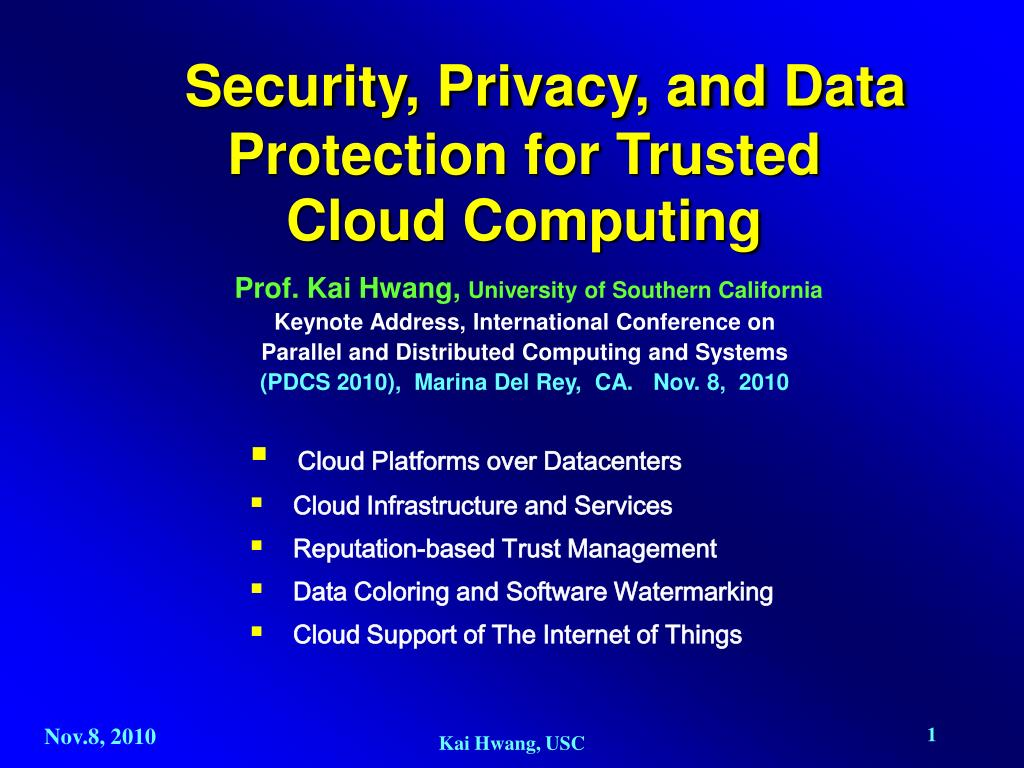 security privacy and data protection for trusted cloud computing l.