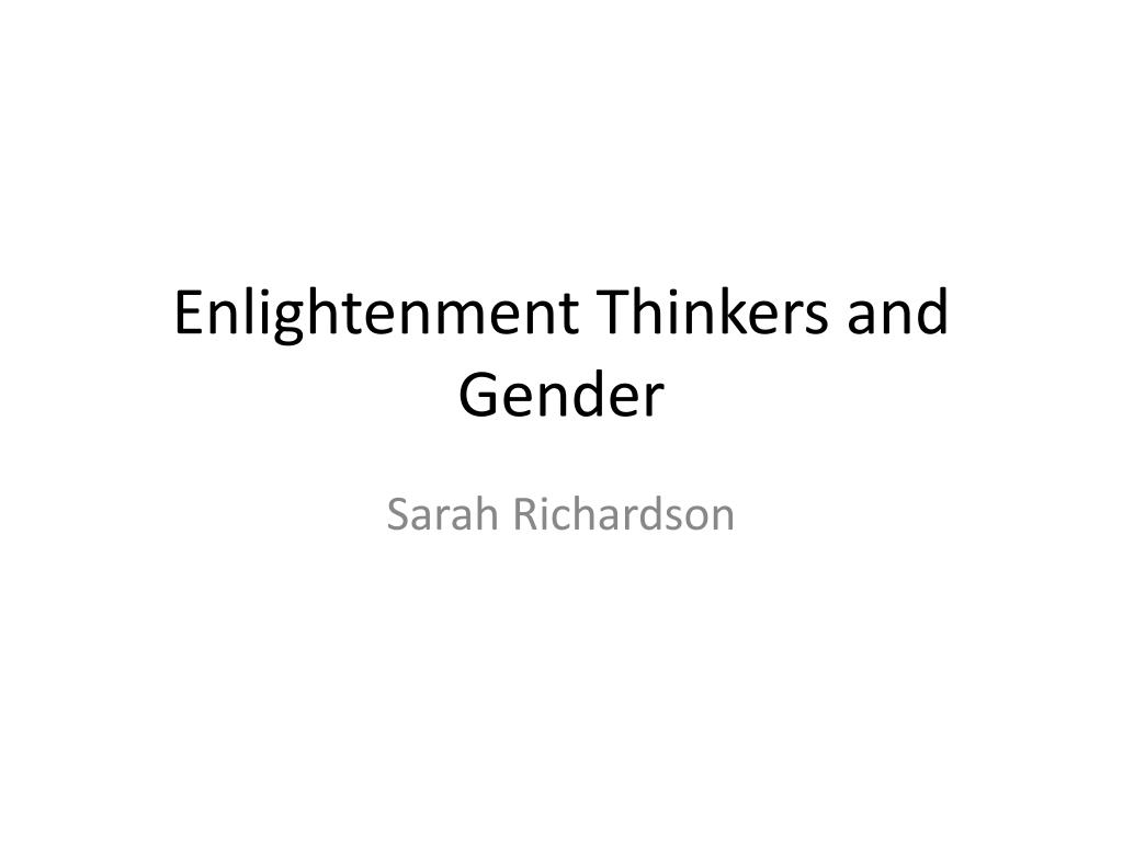 enlightenment thinkers and gender l.