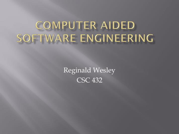 computer aided software engineering n.